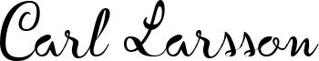 Carl Larsson Font