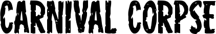Carnival Corpse Font