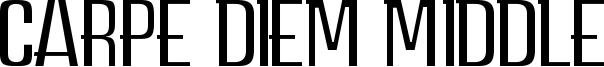 Carpe Diem Middle Font