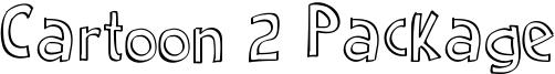 Cartoon 2 Package Font