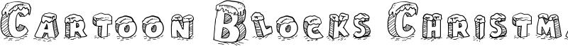 Cartoon Blocks Christmas Font