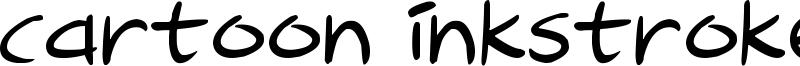 Cartoon Inkstrokes Font