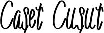 Caset Cusut Font