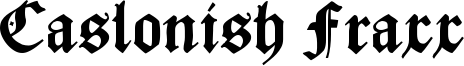 Caslonish Fraxx Font