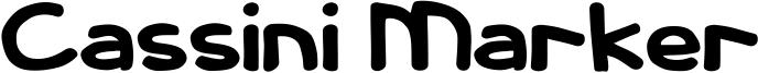Cassini Marker Font