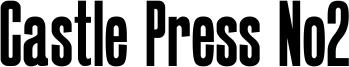 Castle Press No2 Font