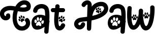 Cat Paw Font