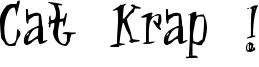 Cat Krap ! Font