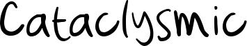 Cataclysmic Font
