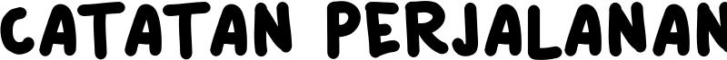 Catatan Perjalanan Font