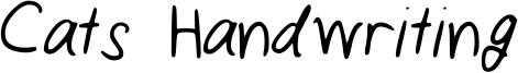 Cats Handwriting Font