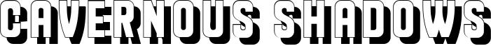 Cavernous Shadows Font