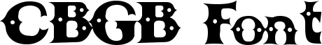 CBGB Font Font