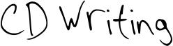 CD Writing Font