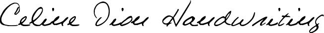 Celine Dion Handwriting Font