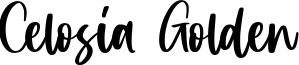 Celosia Golden Font