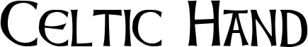 Celtic Hand Font