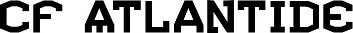 CF Atlantide Font