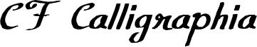 CF Calligraphia Font