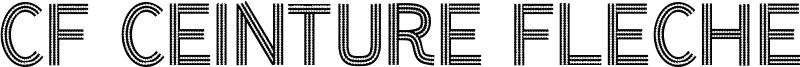 CF Ceinture Flechee Font