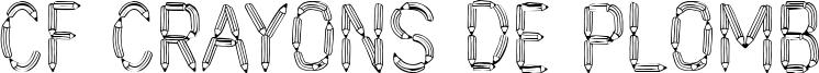 CF Crayons de plomb Font