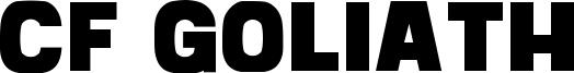 CF Goliath Font