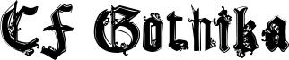 CF Gothika Font