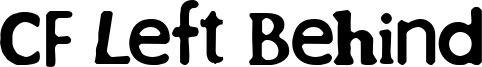 CF Left Behind Font