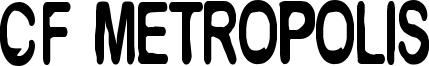CF Metropolis Font