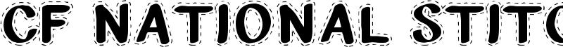 CF National Stitches Font