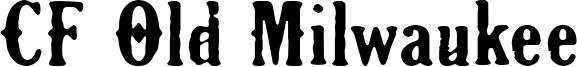 CF Old Milwaukee Font