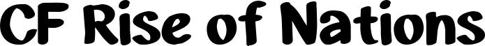 CF Rise of Nations Font