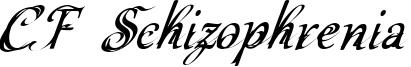 CF Schizophrenia Font