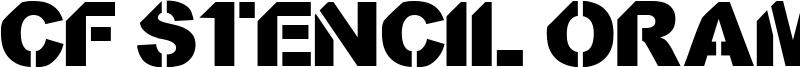 CF Stencil Orama Font