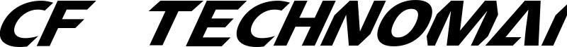 CF TechnoMania Font