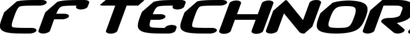 CF TechnoRama Font