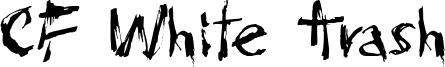 CF White Trash Font