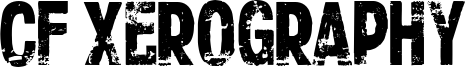 CF Xerography Font
