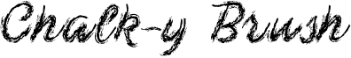 Chalk-y Brush Font