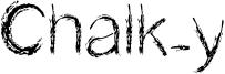 Chalk-y Font