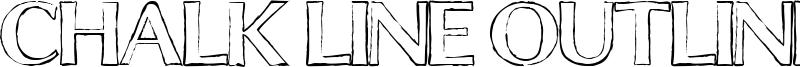 Chalk Line Outline Font