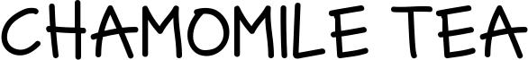 Chamomile Tea Font