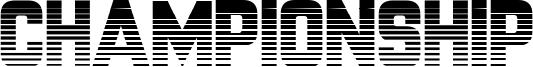 Championship Font