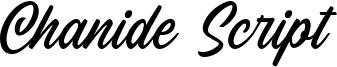 Chanide Script Font