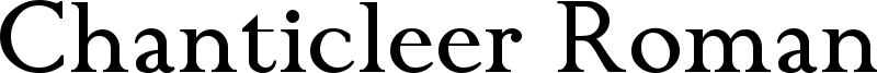 Chanticleer Roman Font