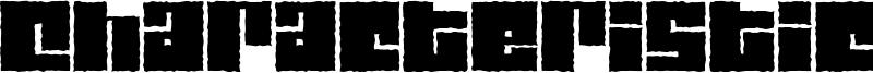 Characteristic Font
