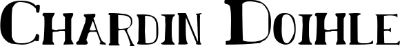 Chardin Doihle Font