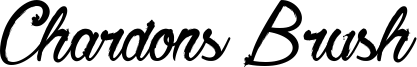 Chardons Brush Font