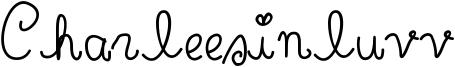 Charleesinluvv Font
