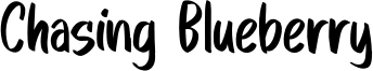 Chasing Blueberry Font